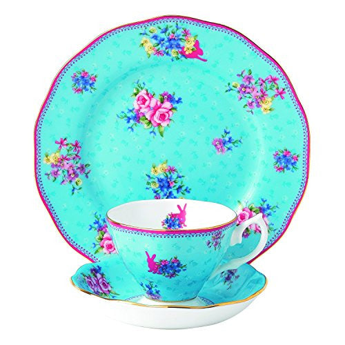 "Royal Albert CANDY 3-PIECE SET - TEACUP, SAUCER & PLATE 8"" HONEY BUNNY"