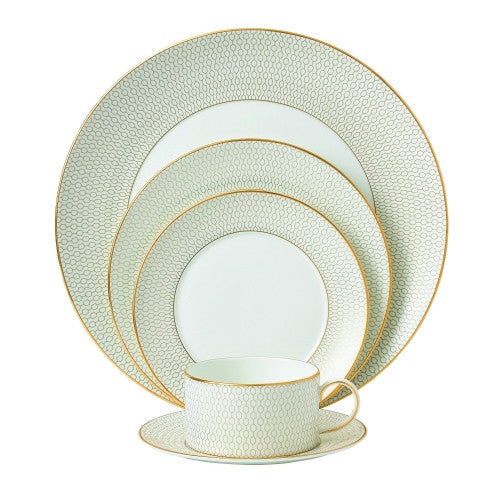 Wedgwood Arris 5 Piece Place Setting, Multicolor With Free Soup Bowl