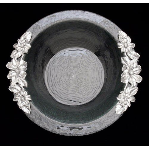 Arthur Court Magnolia Glass Salad Bowl