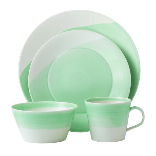 1815 GREEN 4-PIECE PLACE SETTING