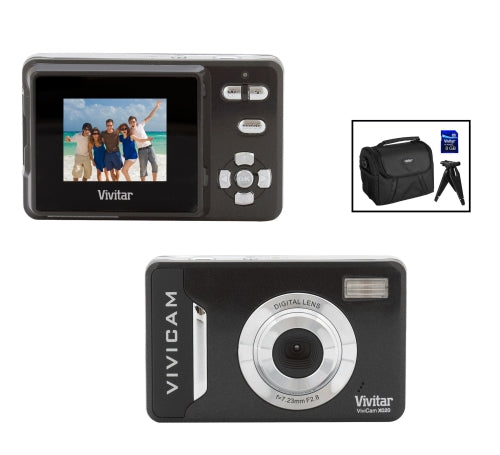 Vivitar VX020-BLACK 10.1MP Digital Camera with 2-Inch LCD (Black) Bundle 4GB Class 6 SD Card Compact Carrying Case …