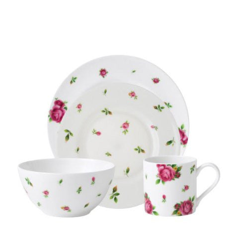Royal Albert New Country Roses Casual White 4 Piece Place Setting