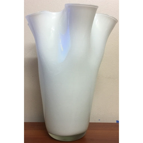 Torre & Tagus, Ripple Glass Vase Tall (White)
