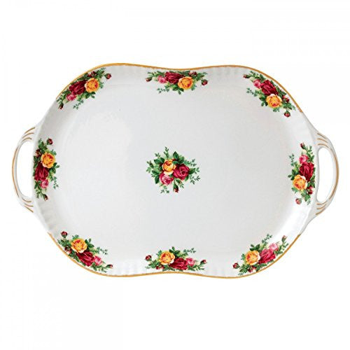 Royal Albert OLD COUNTRY ROSES HANDLED SERVING PLATTER 19""