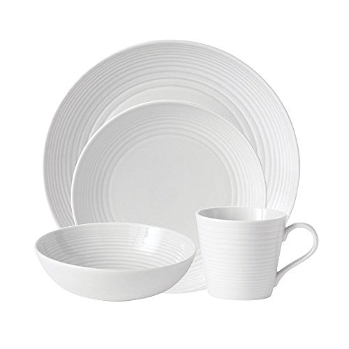 MAZE WHITE 4-PIECE PLACE SETTING