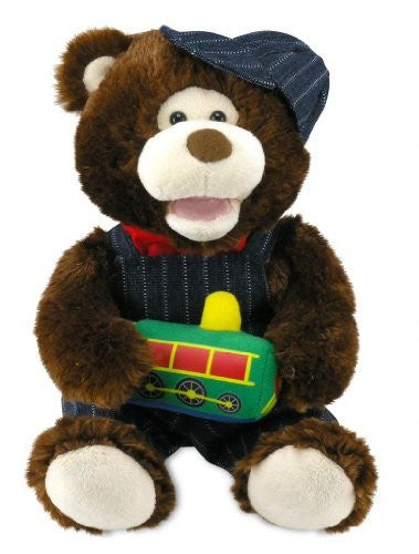 "Cuddle Barn Animated Plush Toy Conductor Cody singing ""Working On A Railroad"""