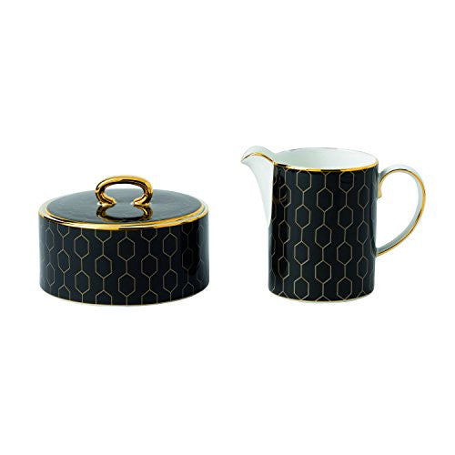 Wedgwood ARRIS ACCENT CREAM & SUGAR SET