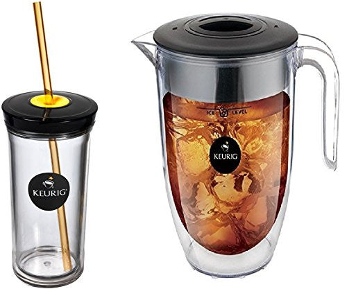 Keurig Brew Over Ice Pitcher Plus Iced Beverage Tumbler