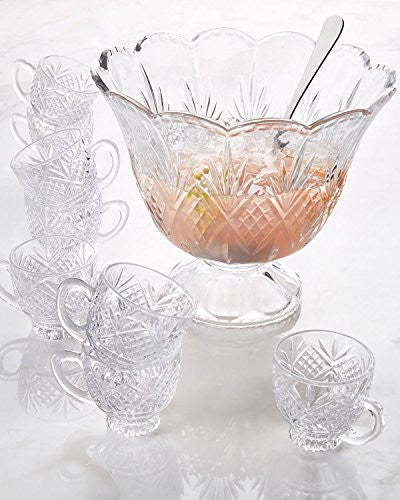Godinger Silver Art Dublin Crystal 10 Piece Punch Set