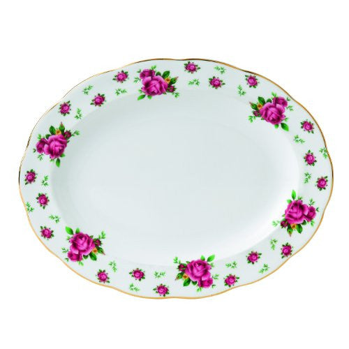 Royal Albert NEW COUNTRY ROSES WHITE OVAL PLATTER 13""