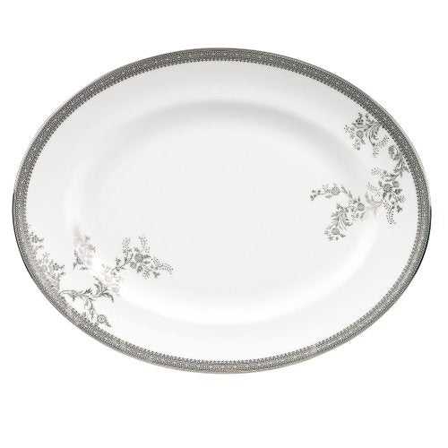 Vera Wang by Wedgwood Vera Lace 13.75-Inch Oval Platter