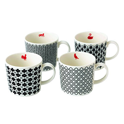 CHARLENE MULLEN MIXED ACCENTS MUGS SET/4