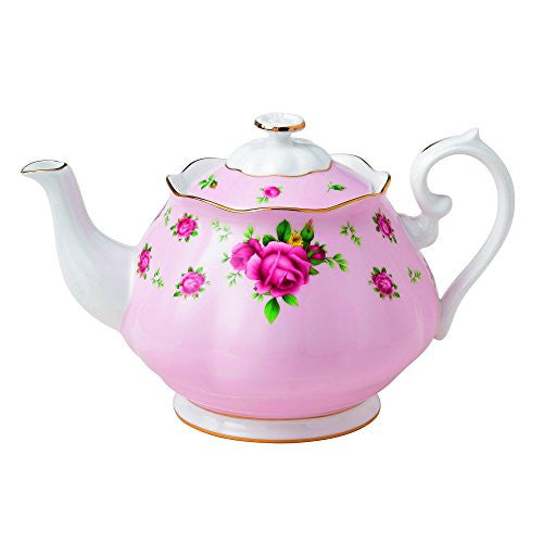 Royal Albert NEW COUNTRY ROSES PINK TEAPOT 42.3 OZ