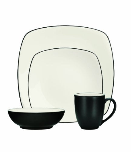 Noritake 4-Piece Colorwave Square Place Setting, Graphite
