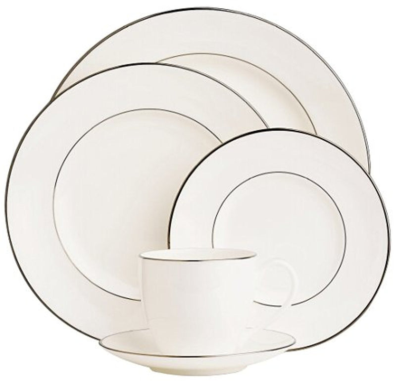 Lenox Continental Dining Platinum Bone China Dinner Plate