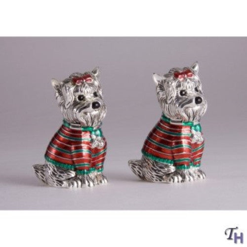 Godinger YORKIE DOG SALT AND PEPPER