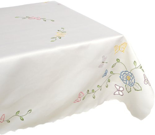 Lenox Butterfly Meadow Cutwork 52 by 70, Oblong, Ivory