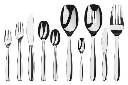 Gourmet Settings Cruise 45-Piece Stainless Steel Flatware Set, 8, 5-Piece pla...