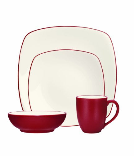 Noritake 4-Piece Colorwave Square Place Setting, Raspberry