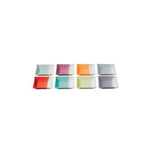 "1815 TAPAS SQUARE TRAYS 4.7"" SET/8 MIXED PATTERNS"