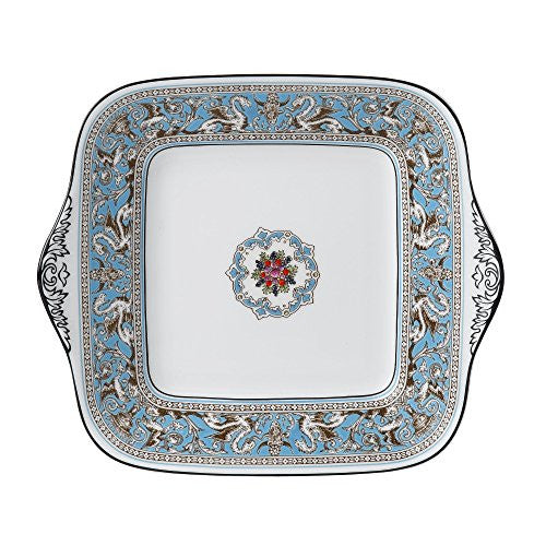 Wedgwood FLORENTINE TURQUOISE BREAD & BUTTER SQUARE 10.75""