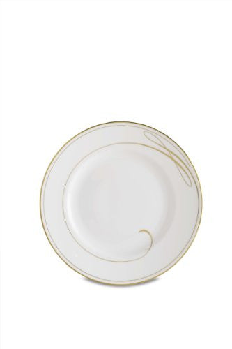 Waterford Ballet Ribbon Gold Champagne Salad/Dessert Plate, 8-Inch