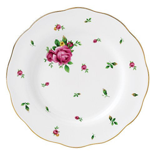 Royal Albert NEW COUNTRY ROSES WHITE SALAD PLATE 8.3""