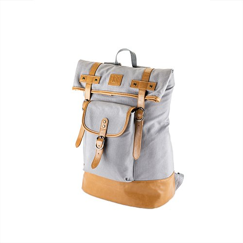 Foster and Rye Insulated Canvas Cooler Adventure Backpack, Grey