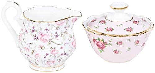 Royal Albert NEW COUNTRY ROSES TEA PARTY MINI CREAMER & SUGAR SET/2 MIXED PATTERNS