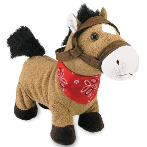 "Cuddle Barn Animated Plush Gallop the Horse [10""] Sings and Gallops Great gif..."