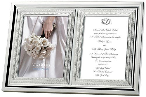 "Wedgwood With Love Double Invitation Frame - 5"" x 7"""
