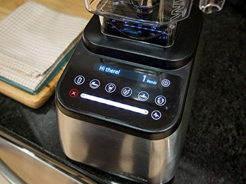 Blendtec Designer 725 with WildSide Jar, Stainless Steel on Black