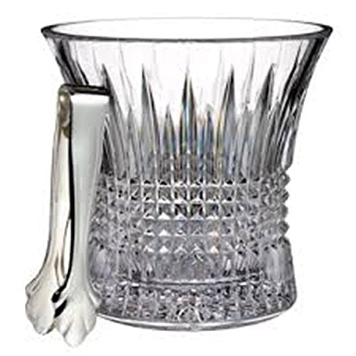 Waterford LISMORE DIAMOND ICE BUCKET W/ TONGS