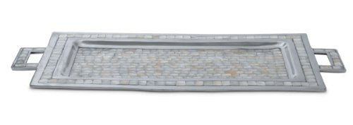 Julia Knight Classic Rectangular Tray with Handles, 25-Inch, Mother of Pearl