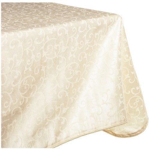 Lenox Opal Innocence 60 By 102 Inch Oblong / Rectangle Tablecloth, Ivory