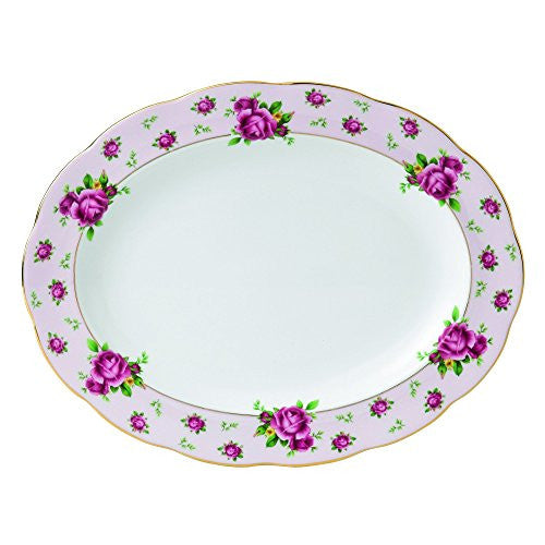 Royal Albert NEW COUNTRY ROSES PINK OVAL PLATTER 13""