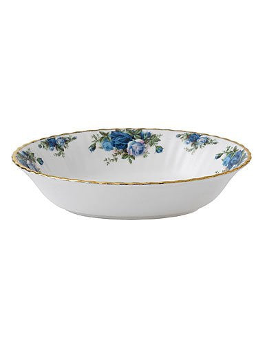 "Royal Albert MOONLIGHT ROSE OPEN VEGETABLE BOWL 7.3"" 32 OZ"
