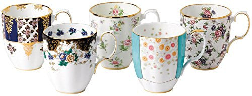 Royal Albert 100 YEARS 1900-1940 5-PIECE MUG SET 14.1 OZ