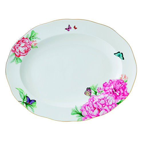 "Royal Albert MIRANDA KERR MEDIUM OVAL PLATTER 13"" FRIENDSHIP"