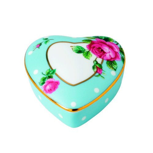 Royal Albert POLKA BLUE HEART BOX
