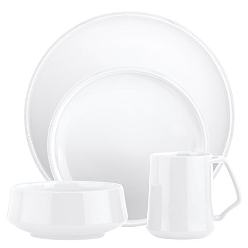 Dansk Kobenstyle 4-Piece Place Setting, White