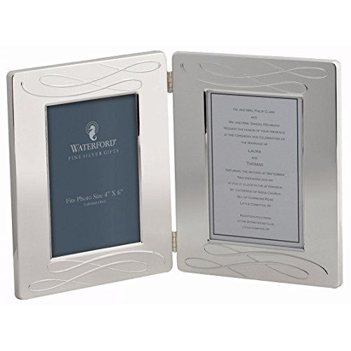 Double Silverplated Picture Frame by Waterford