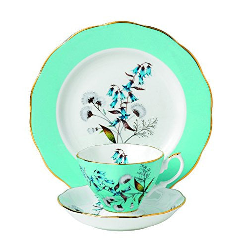 "Royal Albert 100 YEARS 1950 3-PIECE TEACUP, SAUCER & PLATE 8"" SET FESTIVAL"