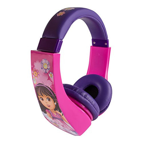 Dora The Explorer HP2-04367-KHL Dora & Friends Kid Safe Over-The-Ear Headphone with Volume Limiter