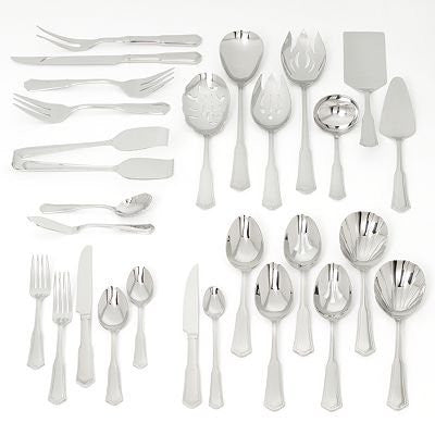 Barton and Reed Templeton 104 Piece Set Flatware Set Serivce for 12