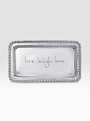 "Mariposa ""live. laugh. love"" Tray"