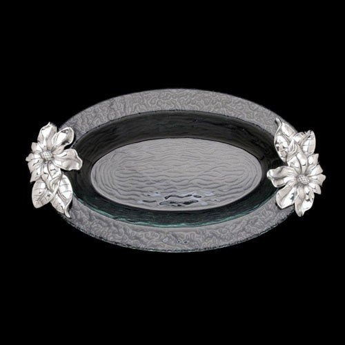 Arthur Court Magnolia Glass Platter