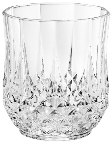 Cristal D'Arques Longchamp Diamax Double Old Fashion, Set of 4