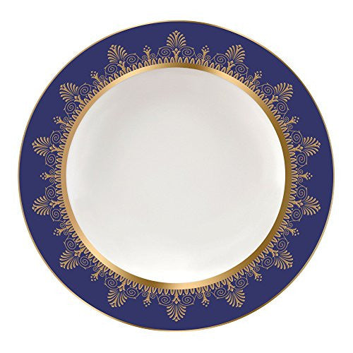 Wedgwood ANTHEMION BLUE RIM SOUP PLATE 9""