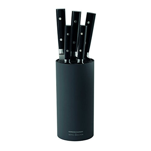 Royal Doulton Gordon Ramsay 6 Piece Knife Block Set, Black